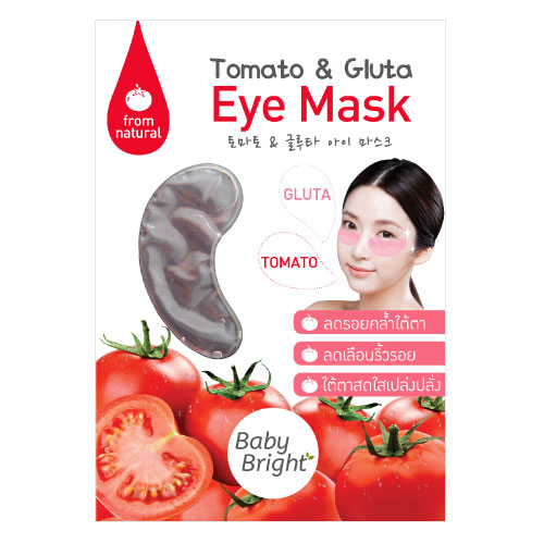 Baby Bright Tomato & Gluta Eye Mask (1 Pair)